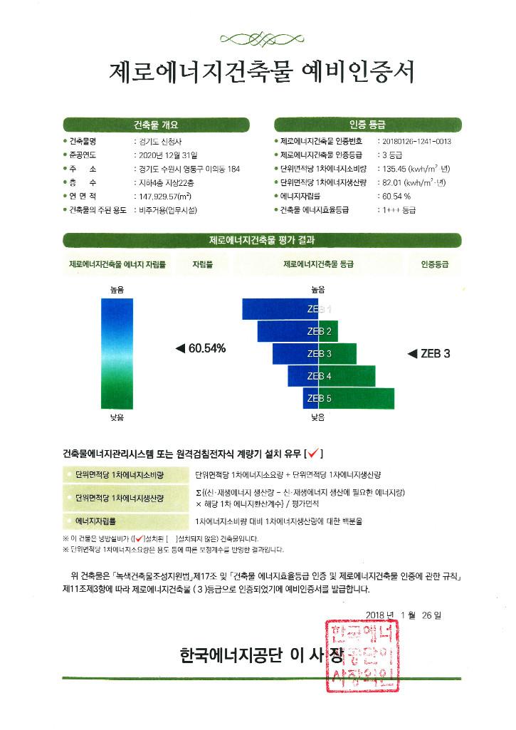 제로에너지건축물 예비인증서(경기도신청사).jpg
